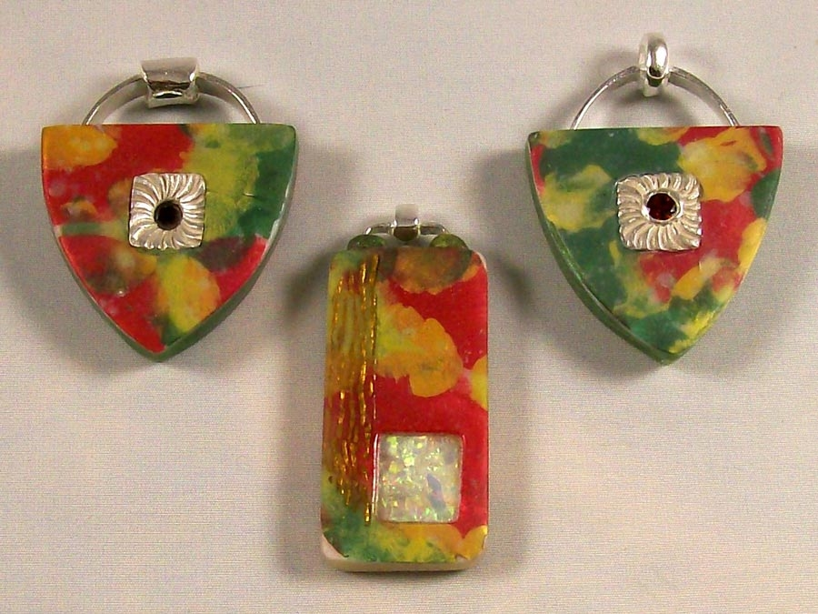 Statement Jewellery - Silver and Polymer Clay